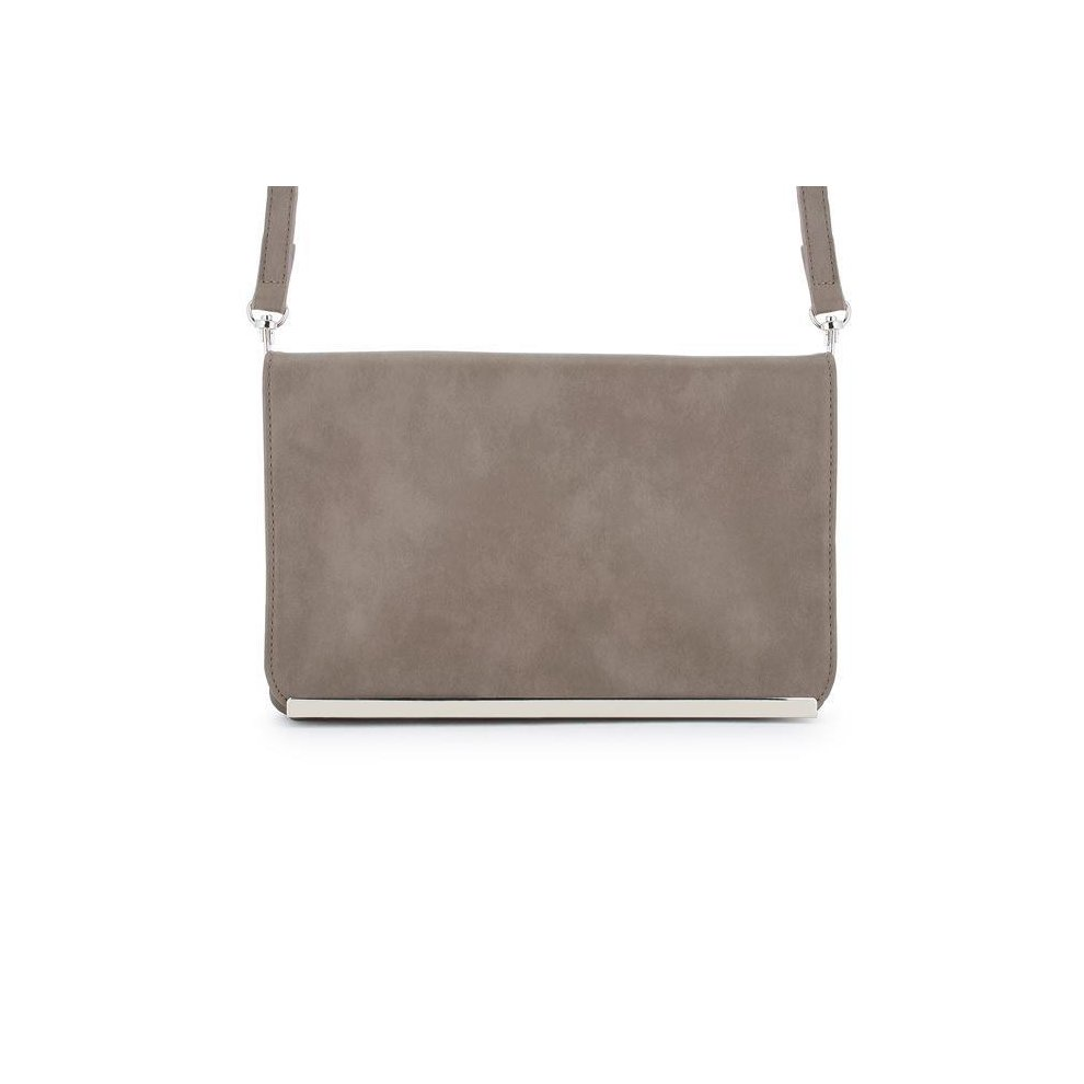 94198ff82c J Goodin TW-0057-TAUPE Martha Taupe Faux Leather Purse Clutch with Silver  Hardware. >
