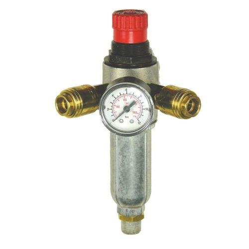Mecafer 152172 Pressure Regulator with Filter / 2 Valves / 1/4-Inch Male Connector