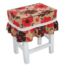Canvas Stool Cover Makeup Stool Cover Red