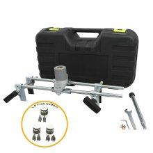T-Mech Mortice Jig Door Lock Fitting Morticer Kit / 6 Wood Cutters
