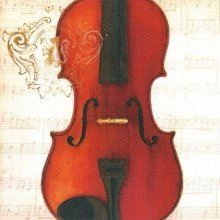 4 x Paper Napkins - Concerto Violin  - Ideal for Decoupage / Napkin Art