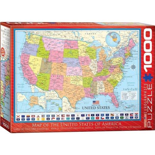 Eg60000788 - Eurographics Puzzle 1000 Pc - Map of the United States