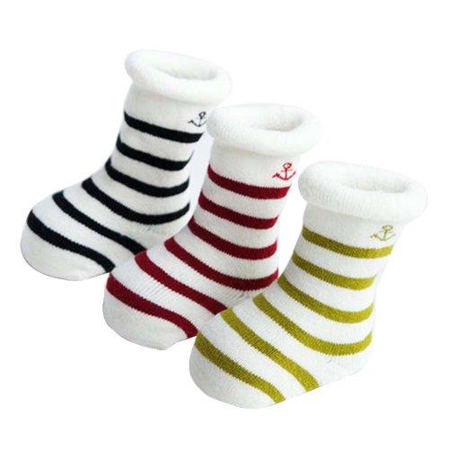 3 Pairs Baby Winter Socks Thick Terry Socks Warm Cotton Socks