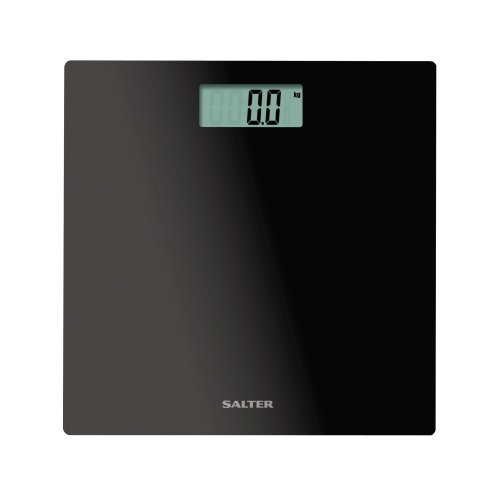 Salter Ultra Slim Electronic Bathroom Scales Toughened Gl Body Black