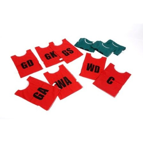 Childrens Green Netball Bibs Pack of 7