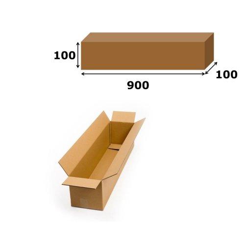 10x Postal Cardboard Box Long Mailing Shipping Carton 900x100x100mm Brown
