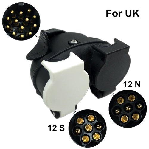 SmartSpec 13 Pin Plug to 12N & 12S 7 pin Sockets Caravan Towing Conversion Trailer Wiring Connector