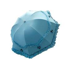 UV Sunscreen Princess Umbrella Arch Sunny Umbrella Vinyl Lace Parasol