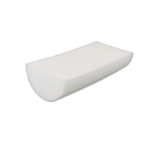 CanDo PE White Foam Roller, 6 X 12, Half Round