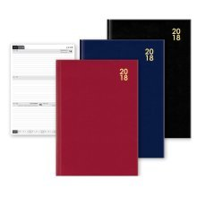 2018 A4 Week to View Diary Black Blue Red Hardback Christmas Birthday Gift WTV W2V
