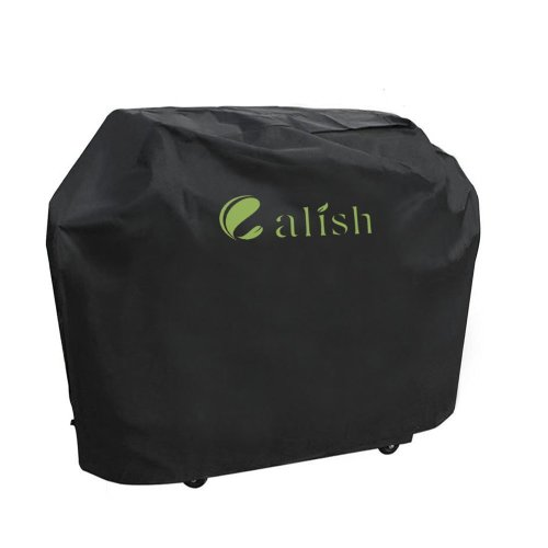 CALISH Barbecue Cover Heavy Duty Waterproof Breathable Oxford fabric 145cm Black