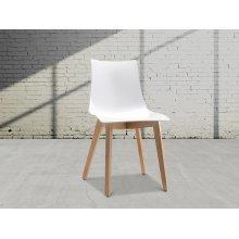 Chair - white/light brown - NATURAL ZEBRA