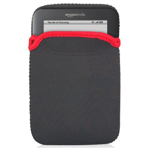 DIGIFLEX Amazon Kindle 3/3G Cover Reversible Black Red Case Pouch for Amazon Kindle 3 3G with Screen Protector