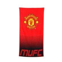 Manchester United Fc Towel Fade Design - Football Beach Official Bath -  towel football beach manchester united official fade bath fc