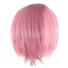 Cosplay Short Straight  Wig for Lolita Halloween Anime Fans [Pink]