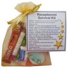Receptionist Survival Kit Gift  - New job, Secret santa gift for receptionist