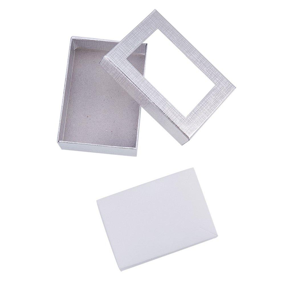 9c45638ce ... NBEADS 60PCS Silver Gift Boxes Presentation Box with Padding - Birthday Gift  Box - Necklace Box ...
