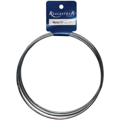 "Zinc Metal Rings-5"" 4/Pkg"