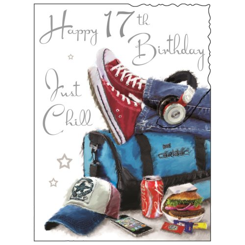 Happy 17th Birthday Just Chill Card On Onbuy