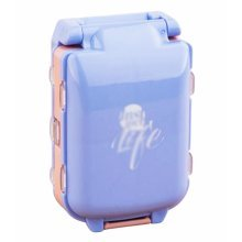 Creative Three Sections 8 Grids Large Luggage Pill Case-Blue