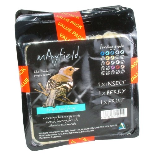 Mayfield Suet Tray Triple Pack (Pack of 4)