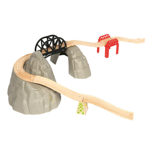 Bigjigs Rail Wooden Rocky Mountain Expansion Pack - Other Major Wooden Rail Brands are Compatible