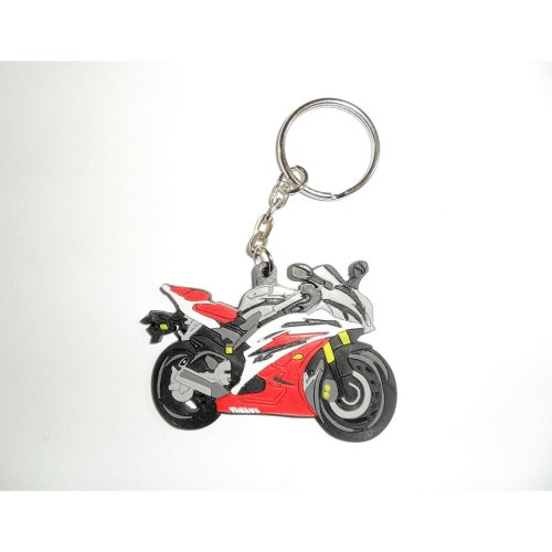 Yamaha YZF-R6 06-07 rubber key ring motorcycle gift keyring chain soft
