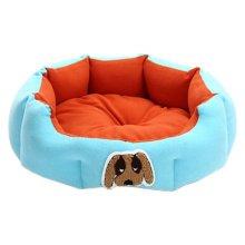 Detachable House Pet Mat Stylish Pet Bed Pet House Kennel Lovely Dog Blue