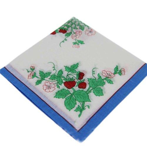 3 Pcs Vintage Handkerchiefs Ladies Pocket Flowers Handkerchief,  #01