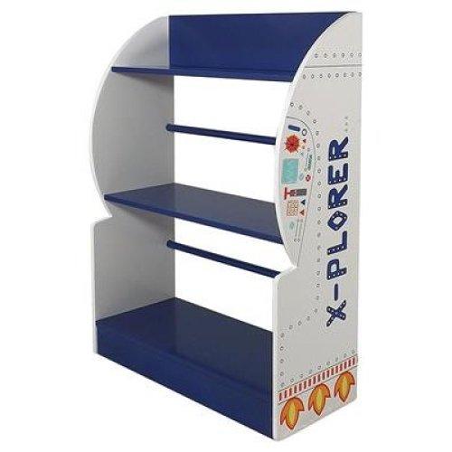 Kidsaw Explorer Bookcase, Wood, Blue, 24 x 60 x 80 cm