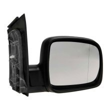 Volkswagen Caddy Van Mk3 2004-2010 Manual Black Wing Door Mirror Drivers Side