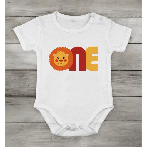 First One 1st Birthday Baby Lion Cotton Short special idea suit