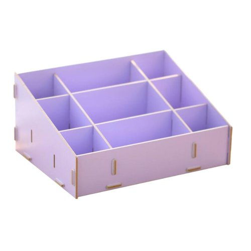 Practical DIY wooden storage box Pen / Pencil / Cosmetic storage drawers PURPLE