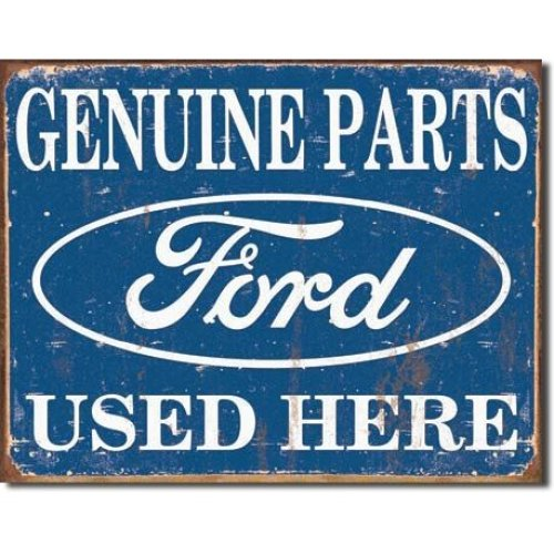 Poster Revolution Tin Sign Ford Parts , 16X13