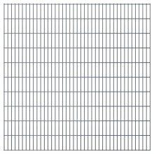 vidaXL 2D Garden Fence Panels 2008x2030 mm 48 m Grey