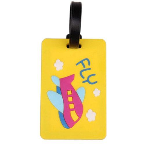 Set Of 2 Fashional Luggage Tag Bag Tags Silicone Name Tag Travel Tag [Yellow]