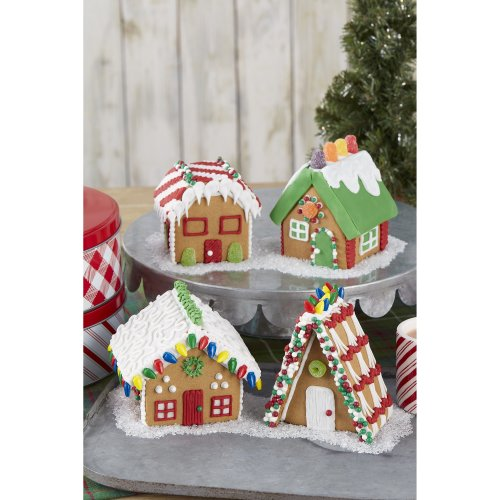Unassembled Gingerbread House Kit-Mini Village