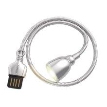 USB Night Light Mini USB Reading Lamp Table LED Lamp For Laptop(Silver)