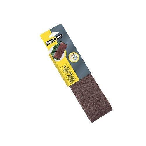 Flexovit 63642526470 Cloth Sanding Belts 533mm x 75mm 120g Fine Pack of 2