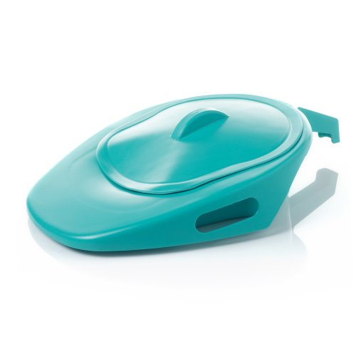 FPN Adult Slipper Bedpan with Handle & Secure Fitting Lid - for Personal Home Use and Nursing Care Use