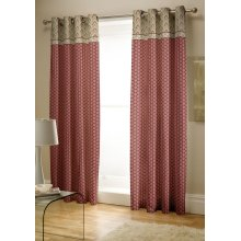 Catherine Lansfield Kashmir Easy Care Eyelet Curtains Multi 66x72 Inch
