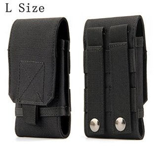 Tactical MOLLE Smartphone Holster, Universal Army Mobile Phone Belt Pouch EDC Security Pack Carry Accessory Kit Blowout Pouch Belt Loops Waist Bag...