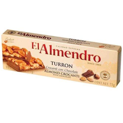 El Almendro Turron Almond Crocanti with Chocolate