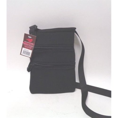 NuPouch 2042 Sling Hipster Purse Women Solid Black