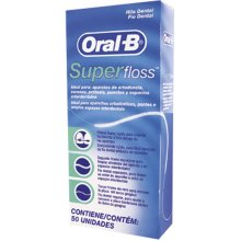 12 X Oral -B Super Floss 50 PRE-CUT STRANDS, Dental Floss