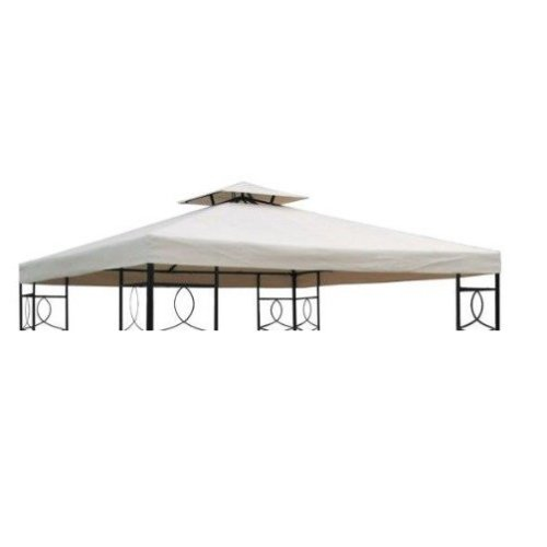 Outsunny Replacement Gazebo Canopy | Two-Tier Roof Top 3m x 3m