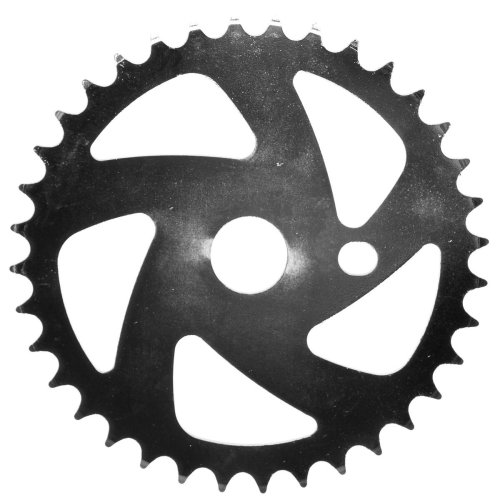 36T TEETH SPROCKET for ONE PIECE CRANK Bike/Bicycle SILVER NINJA STYLE NEW