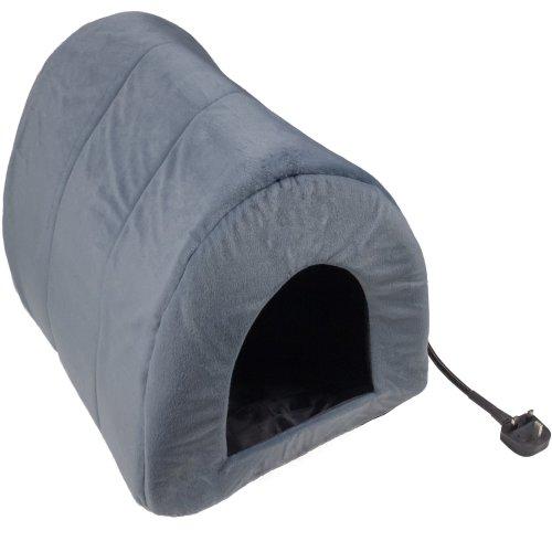 Heated Pet Bed Mat Cat Dog Puppy Electric Heat Pad Warm Igloo Snug Cave House