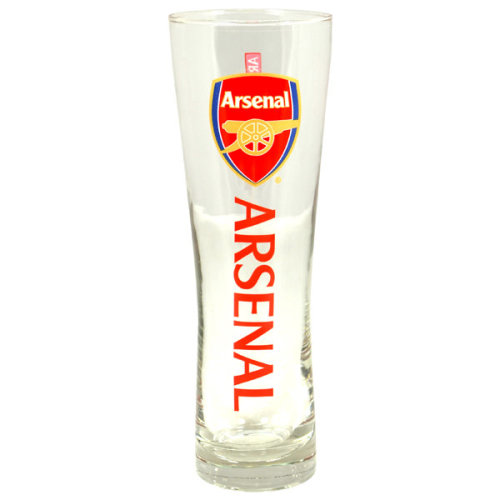 Arsenal Official Tall Beer Glass - Multi-colour - Football Fc Peroni Pint New -  glass tall beer arsenal official football fc peroni pint new gift
