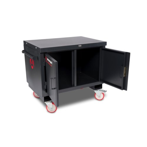 Armorgard Mobile Tuffbench Heavy Duty Secure Work Bench & Storage Cabinet 1120x705x920mm